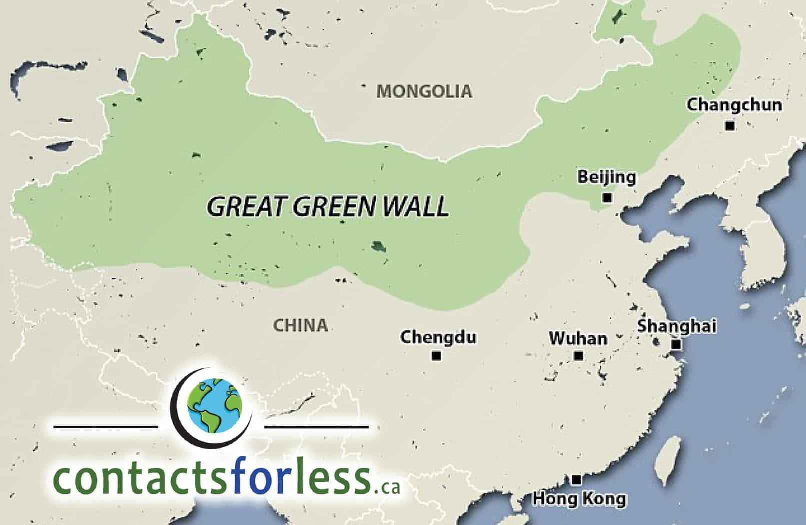 Great Green Wall Keeps Deserts At Bay Softlens Bc Rainbow 165mm