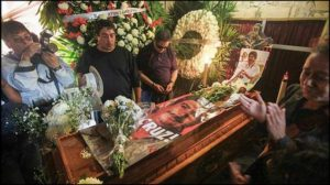 Gregorio Jimenez was buried with other journalists