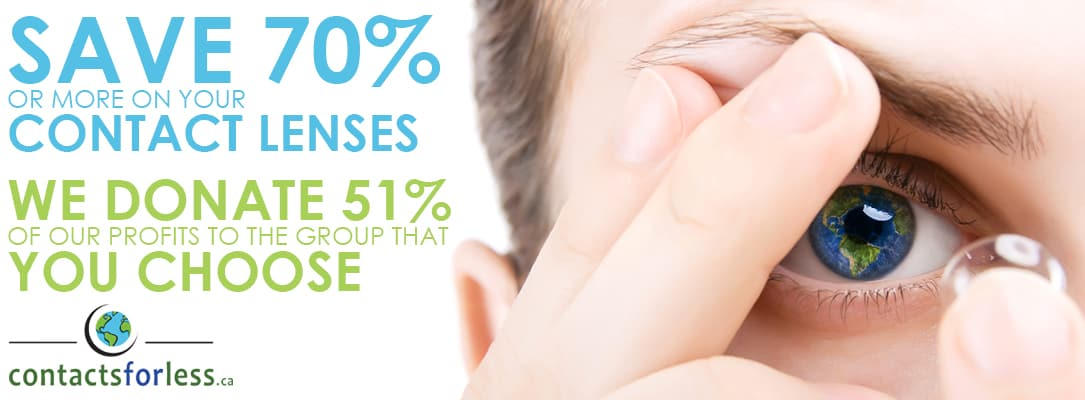 Save money on contact lenses in Canada