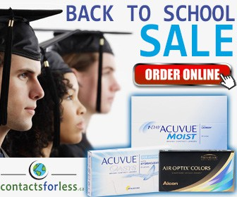 Back to school contact lens special
