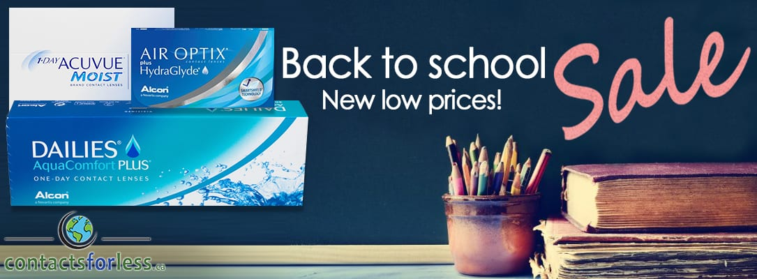Back to School Contact Lens Sale