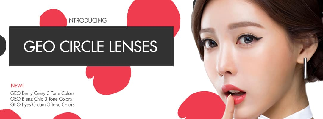 NEW!  GEO Circle Lenses