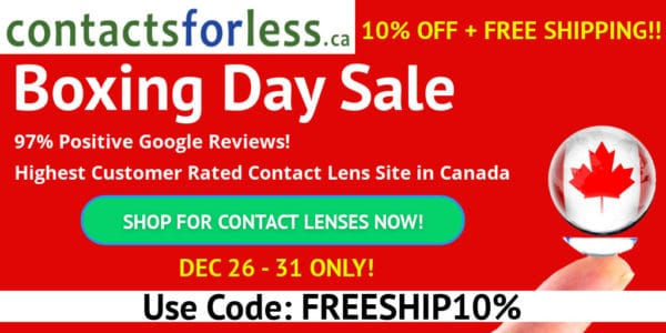 Boxing Day Sale Canada buy contacts online