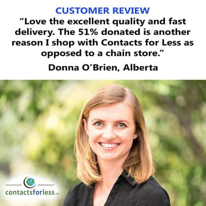 Customer Donna of Alberta gives us praise