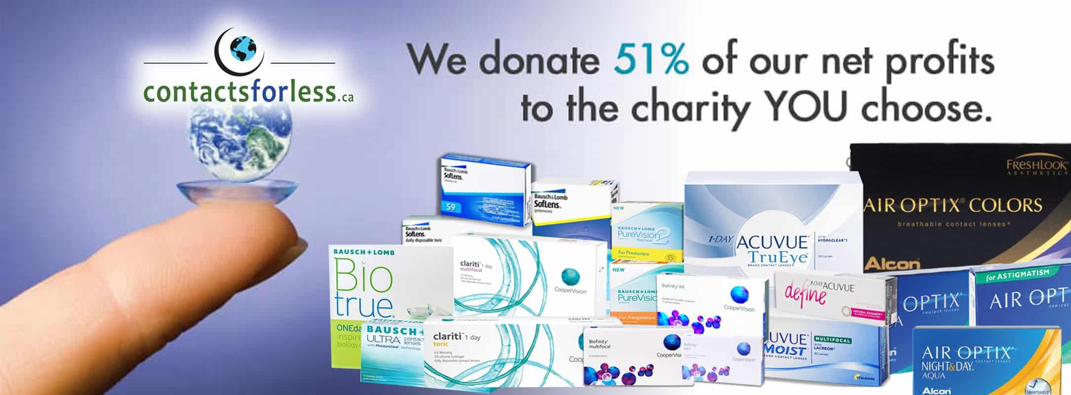 We donate