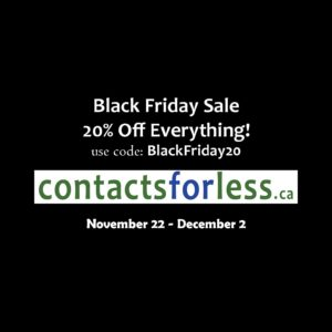 Black Friday contact lens sale