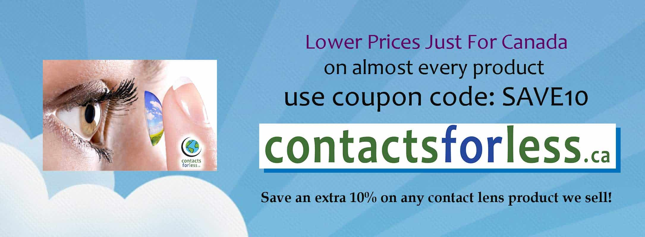Lowest price on contacts online in Canada