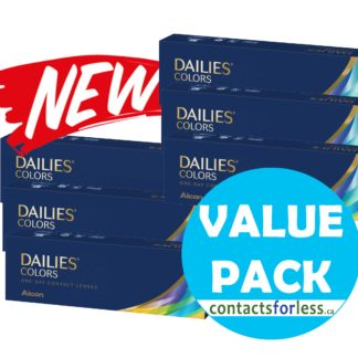 180 Value Pack of Alcon Dailies Colors Contacts