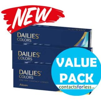 90 Value Pack of Alcon Dailies Colors Coloured Contacts