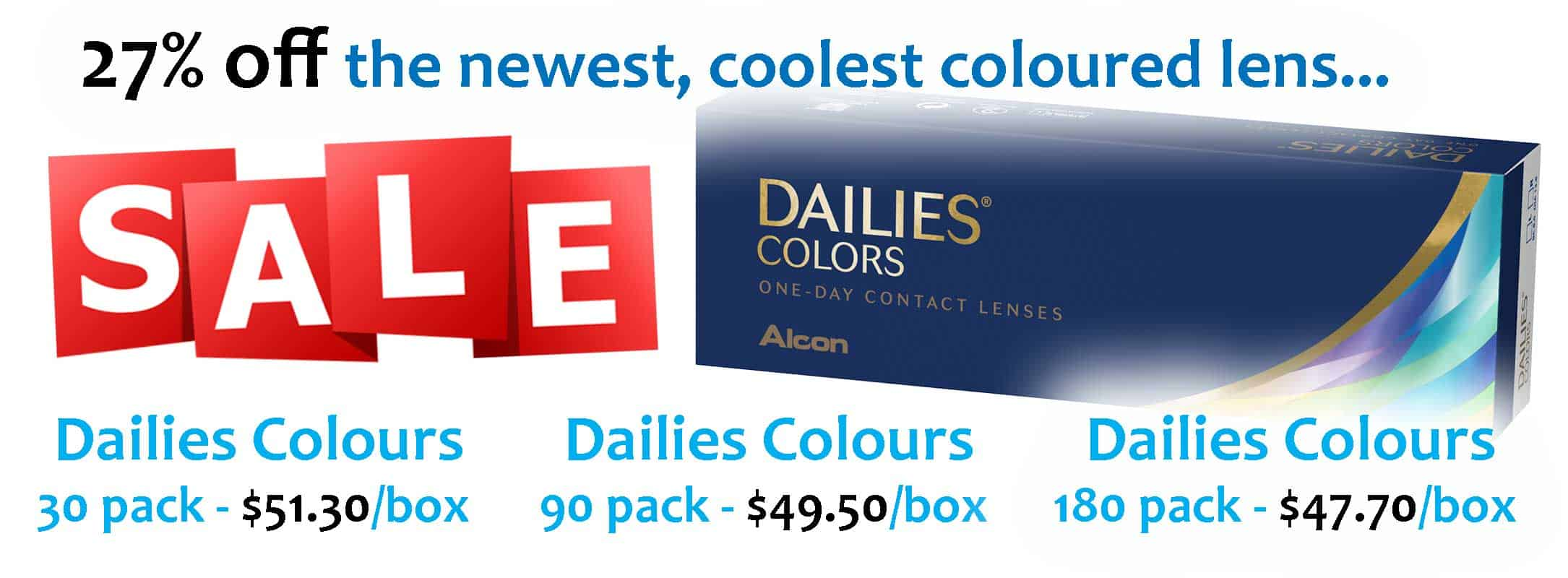Save on Dailies Colors